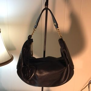 Juicy Couture black pebbled leather handbag